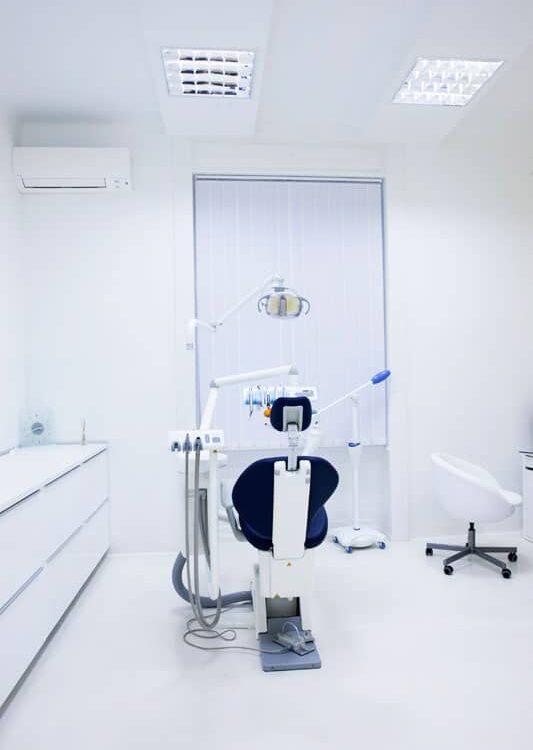 Ett av behandlignsrommene på tannklinikken i Budapest