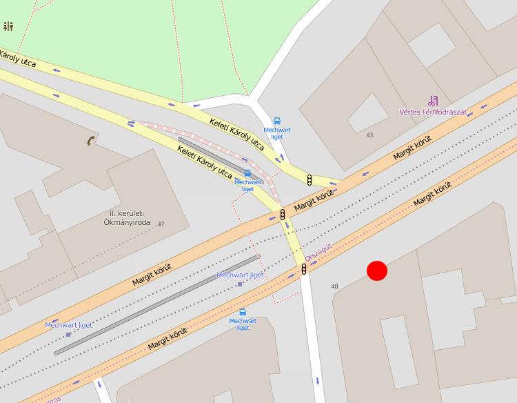 Kart som viser inngang til klinikken